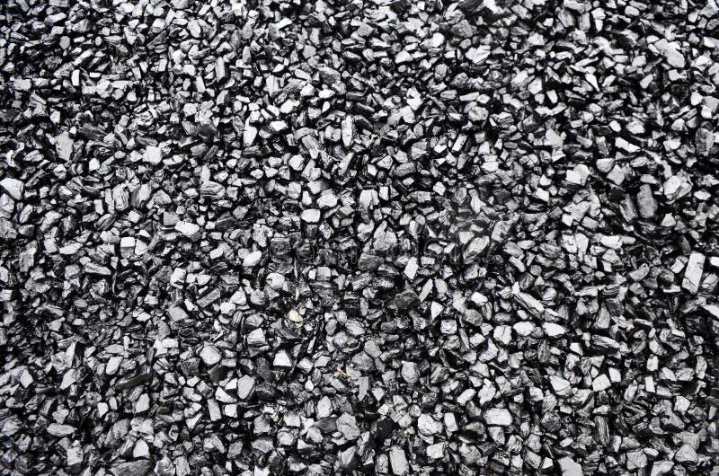 Hög av svart kol royaltyfri bild