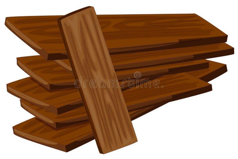 Hög av träkryssfaner vektor illustrationer