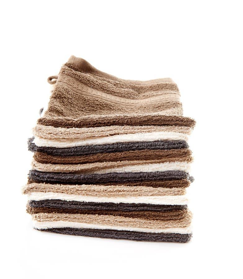 Hög av washclothes arkivfoto