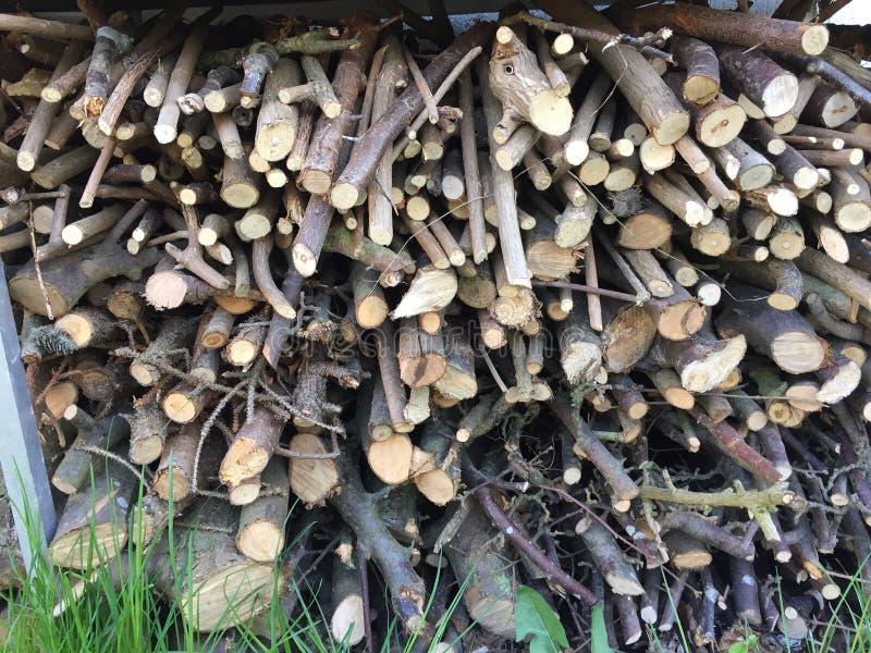 Hög av wood pinnar royaltyfri bild