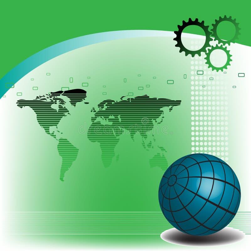 hög bakgrund - tech stock illustrationer