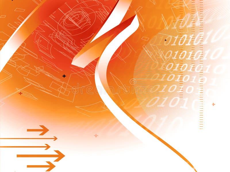 hög bakgrund - tech royaltyfri illustrationer