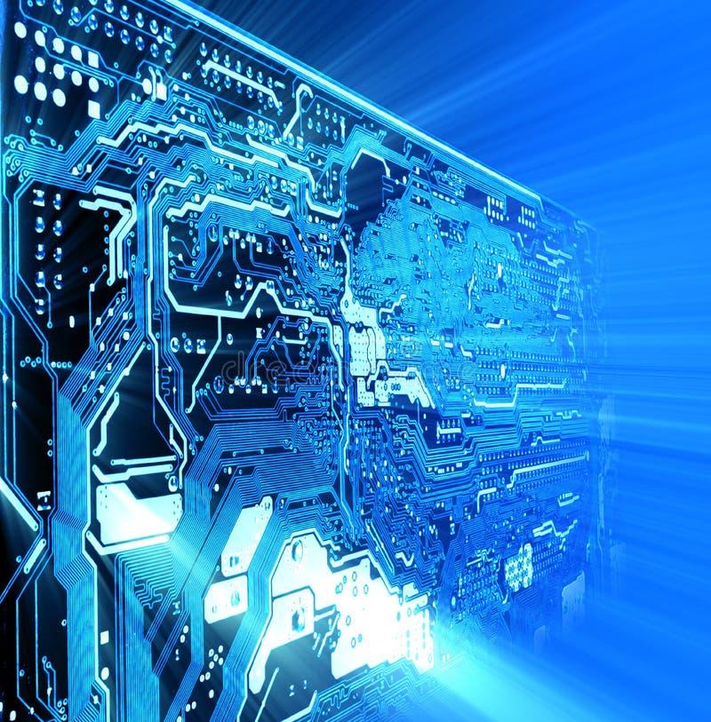 hög bakgrund - teknologi stock illustrationer