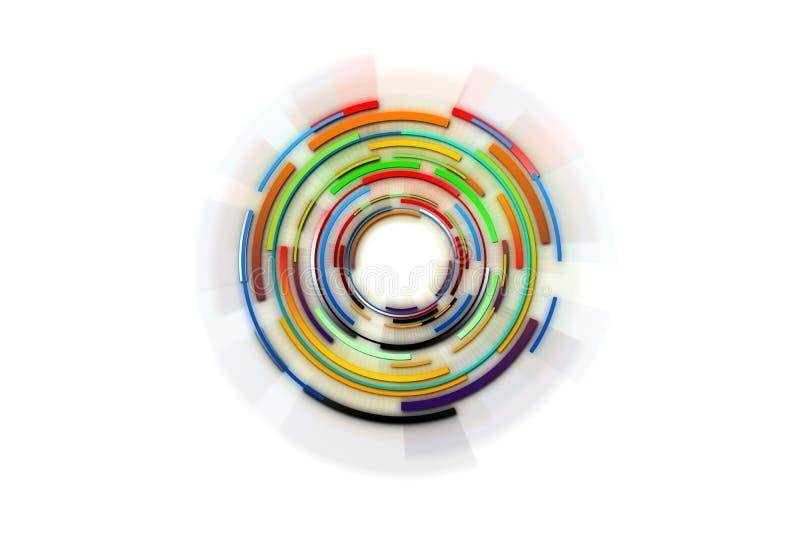 hög bakgrundsdesign - tech abstrakt bakgrundsteknologi Circl vektor illustrationer