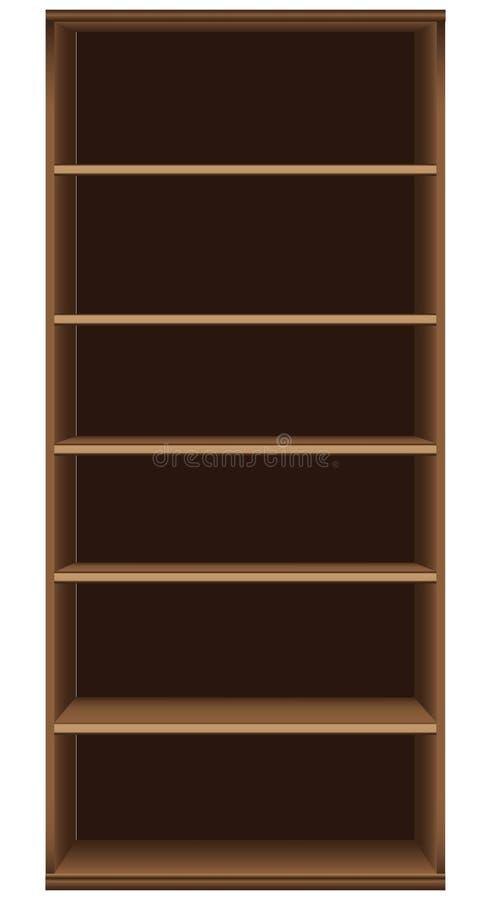 Hög bokhylla för kontor royaltyfri illustrationer