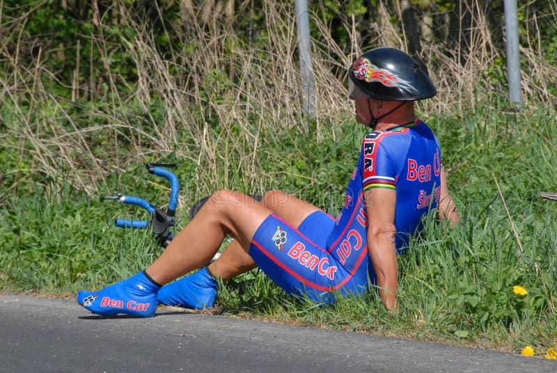 Hög cyklist Josef Linek, extraligaförlage av Tjeckien royaltyfria bilder