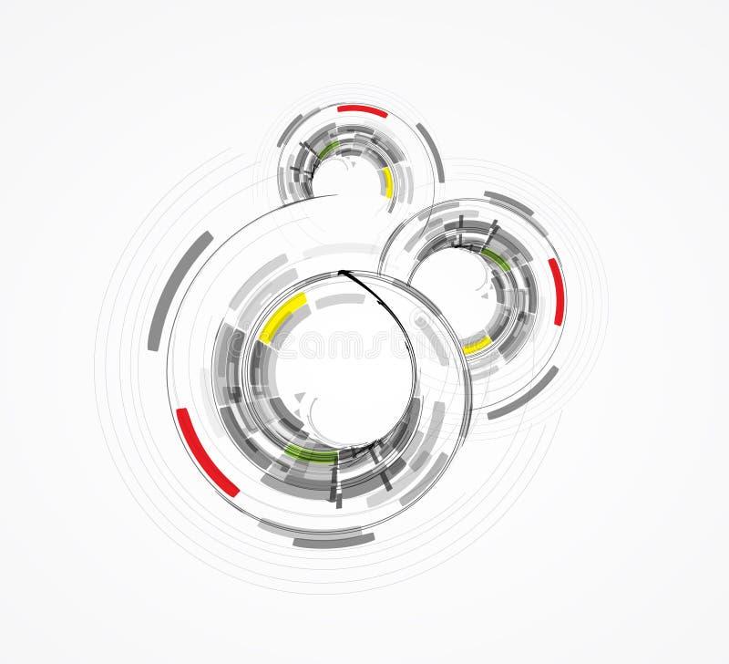 Hög datateknikaffär b för futuristisk internet royaltyfri illustrationer