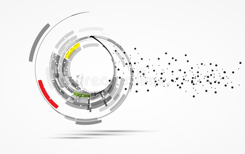 Hög datateknikaffär b för futuristisk internet stock illustrationer