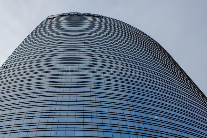 Hög del av skyskrapan royaltyfri bild