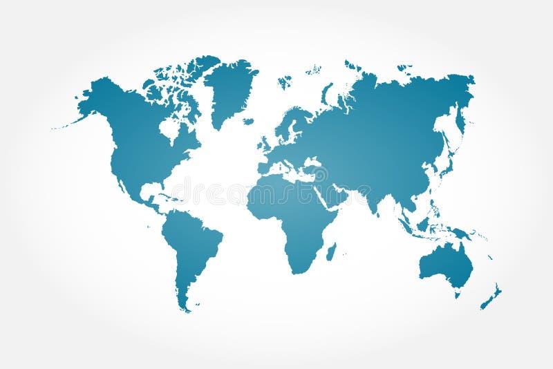 Hög detaljvärldskarta royaltyfri illustrationer