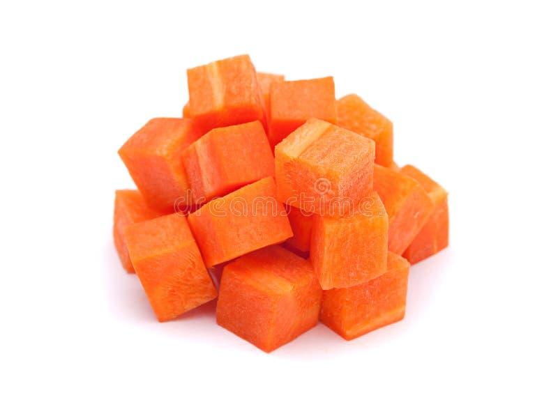 Hög för morotgrönsakkub royaltyfri foto