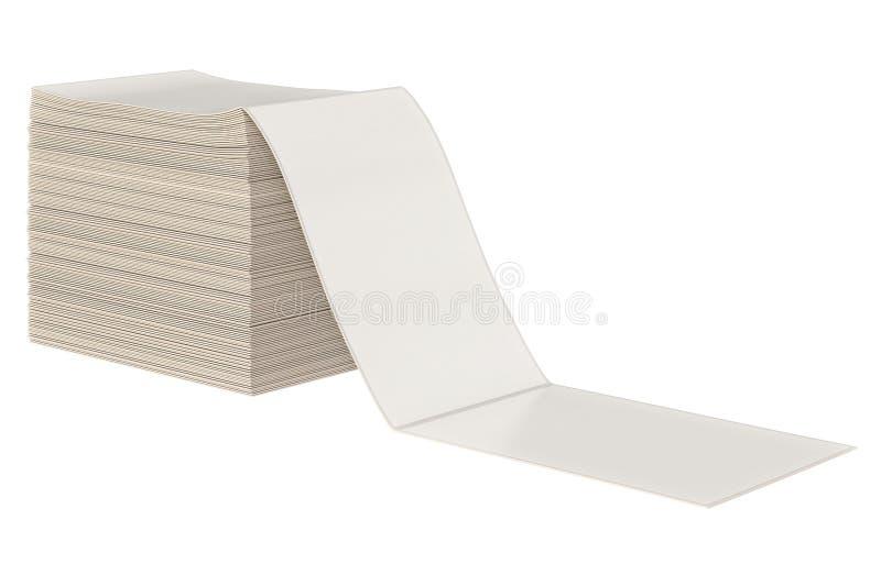 Hög för pappers- bunt royaltyfri illustrationer