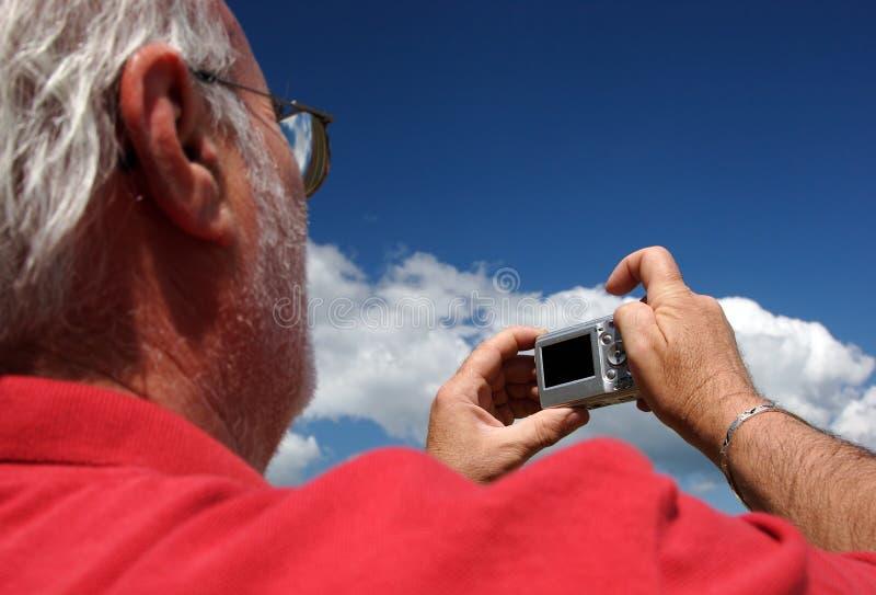 Hög fotograf fotografering för bildbyråer