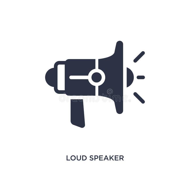 hög högtalare som vänder mot den högra symbolen på vit bakgrund Enkel beståndsdelillustration från biobegrepp stock illustrationer