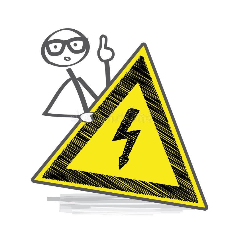 hög keepspänning för away fara stock illustrationer