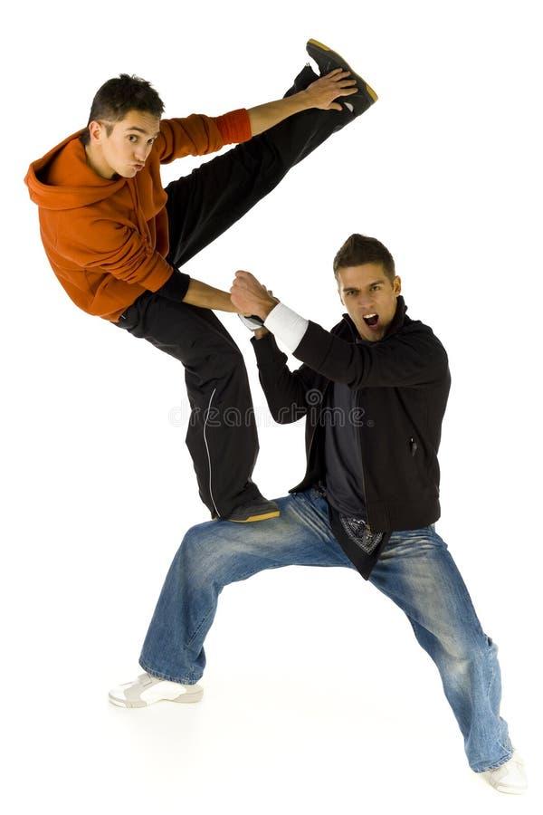 hög kick arkivbild