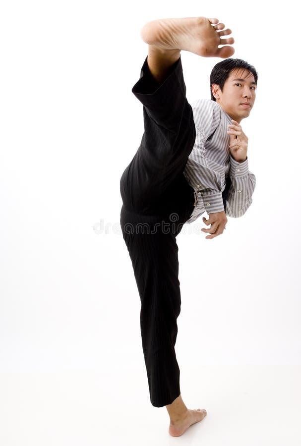 Hög Kick arkivfoto
