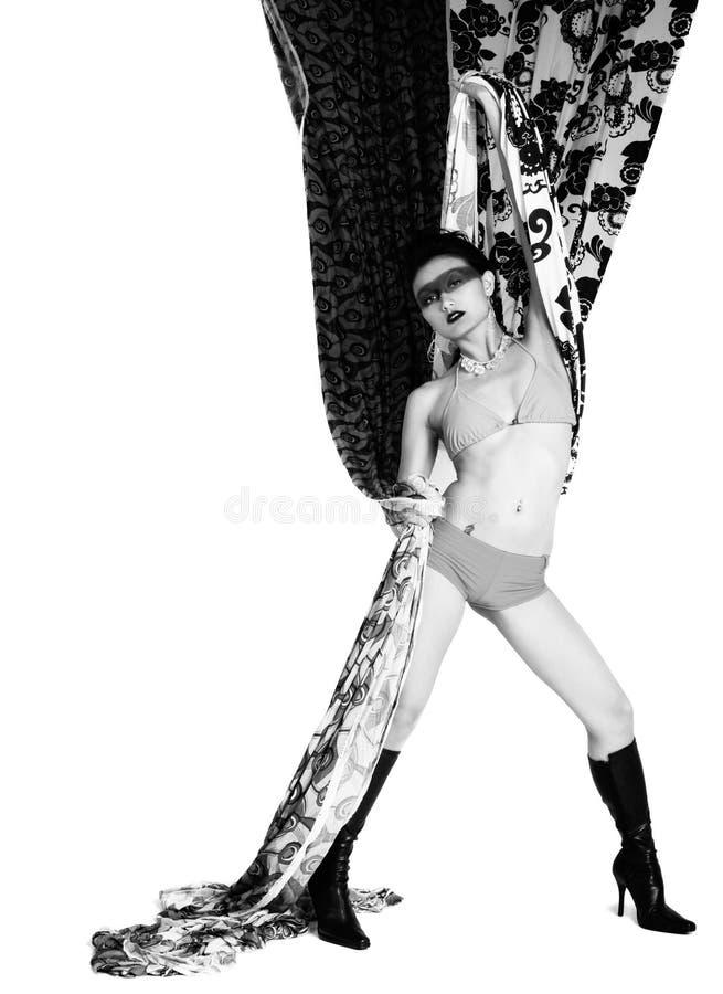 hög kvinna för mode arkivbild