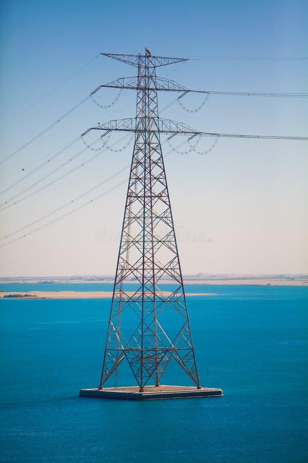 hög linje strömspänning royaltyfri bild