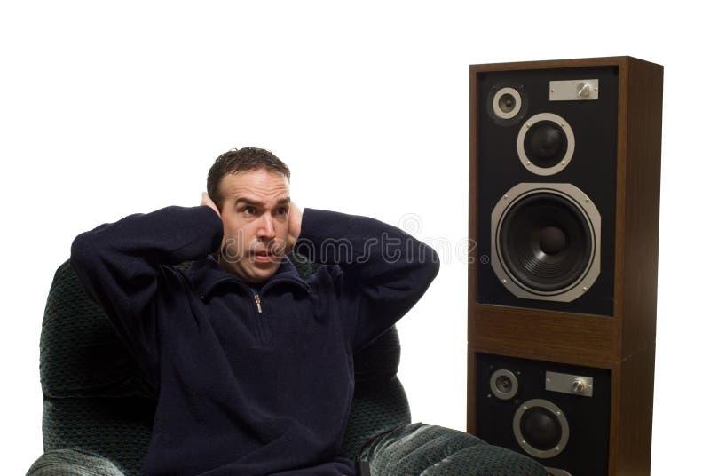 hög musik royaltyfri foto