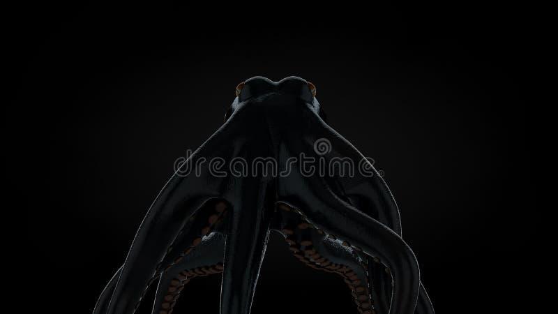 Hög res 3d framförde den läskiga bläckfisken vektor illustrationer