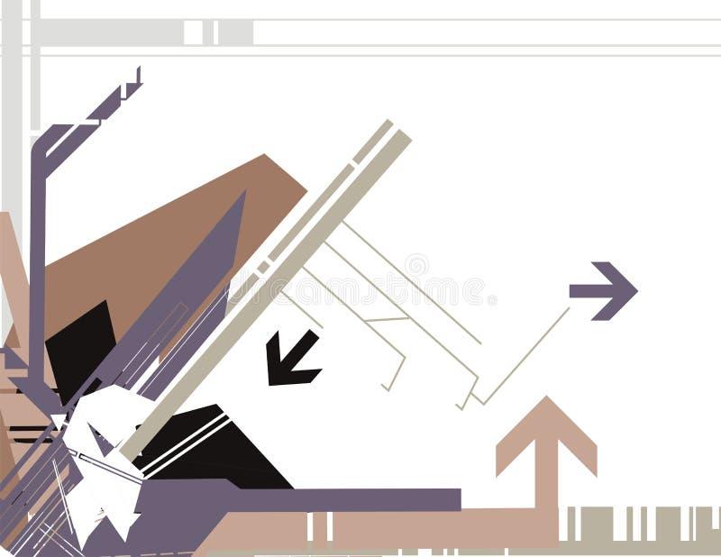 hög serietech för bakgrund royaltyfri illustrationer