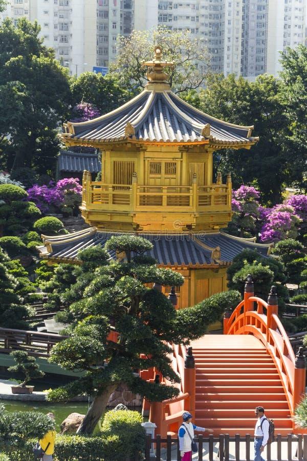 Hög sikt av trädgården royaltyfri foto