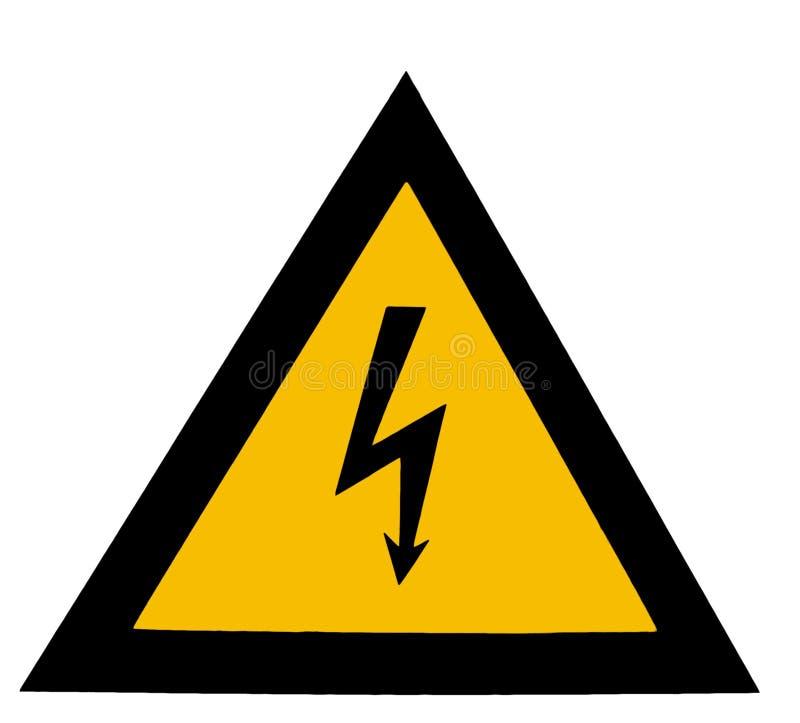 Download Hög spänning arkivfoto. Bild av yellow, fara, tecken, arrowheaden - 27870