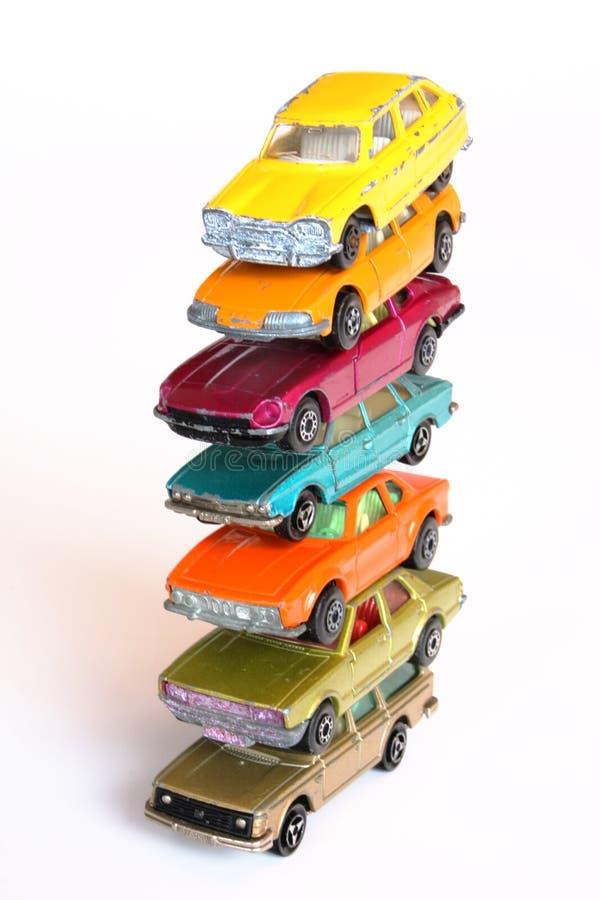 hög stapel för bilar royaltyfri fotografi