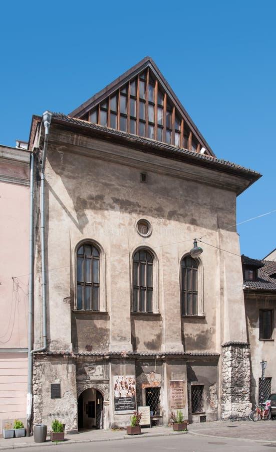 Hög synagoga i Krakow, Polen arkivbilder
