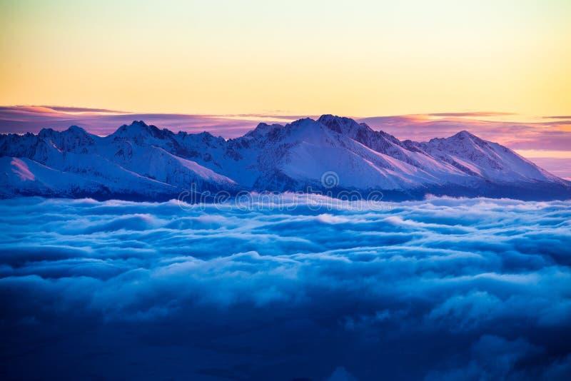 Hög Tatras inversion fotografering för bildbyråer