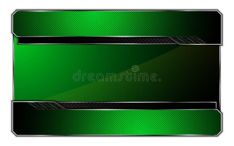 Hög tech concept01 för abstrakt för ståltextur för bakgrund metallisk design för ram royaltyfri illustrationer