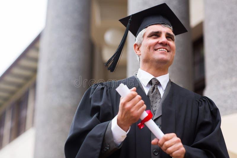 Hög universitetkandidat fotografering för bildbyråer