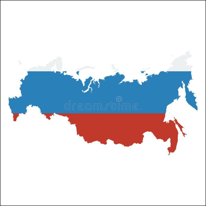 Hög upplösningsöversikt för rysk federation med royaltyfri illustrationer