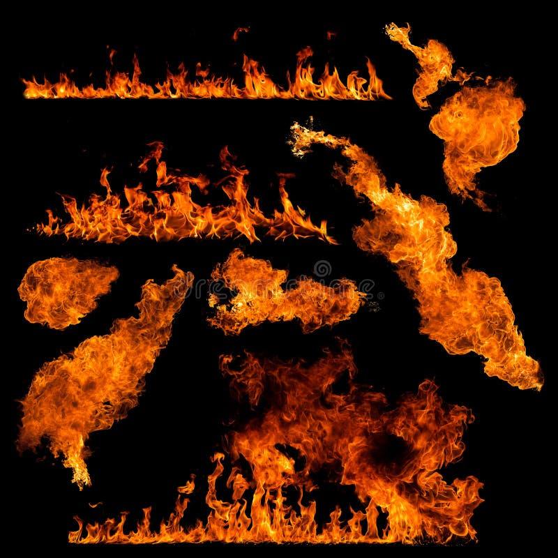 Hög upplösningsbrandsamling arkivbilder
