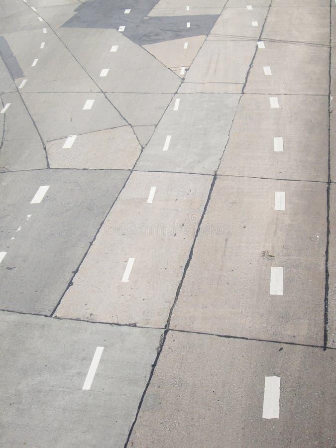 Hög vinkel av vägen arkivfoto