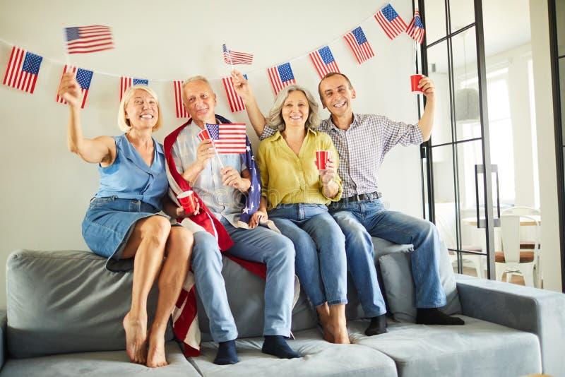 Höga amerikanska medborgare royaltyfria bilder