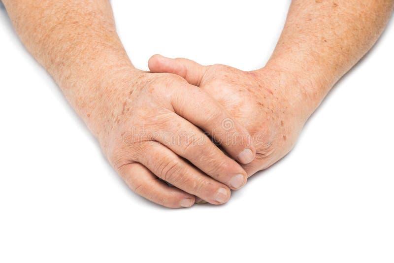 Höga händer arkivbild
