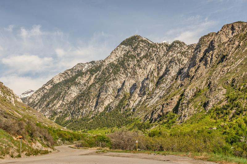 Höga höjdberg i Utah arkivfoton