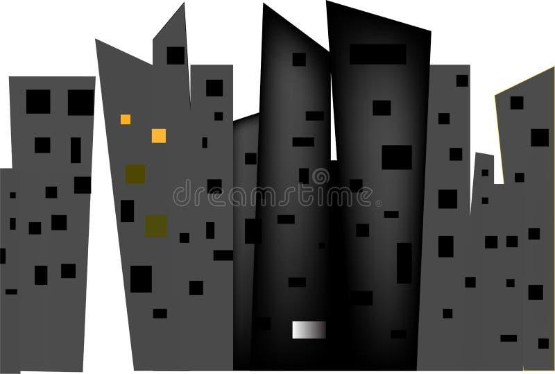 Höga hus av storstaden vektor illustrationer