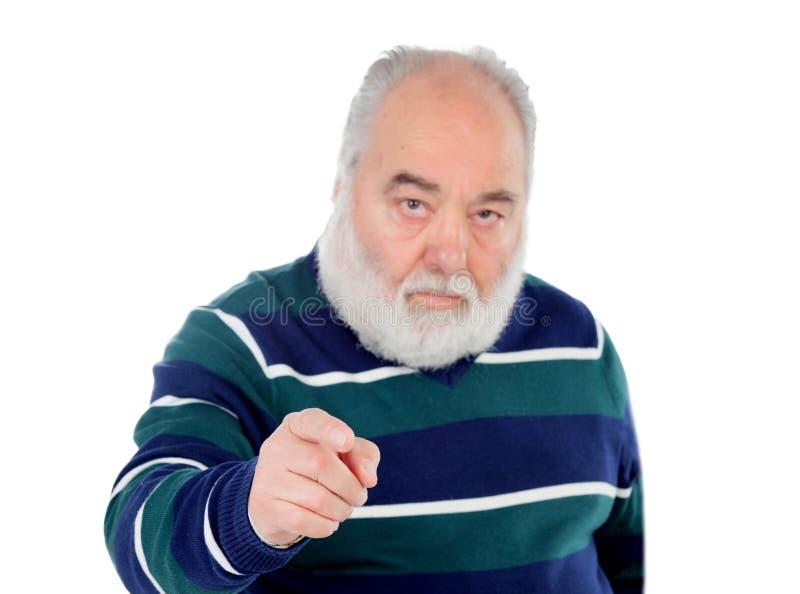Höga män som pekar på kameran med hans finger arkivfoton