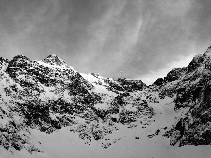 Höga Tatra i vinter arkivfoton