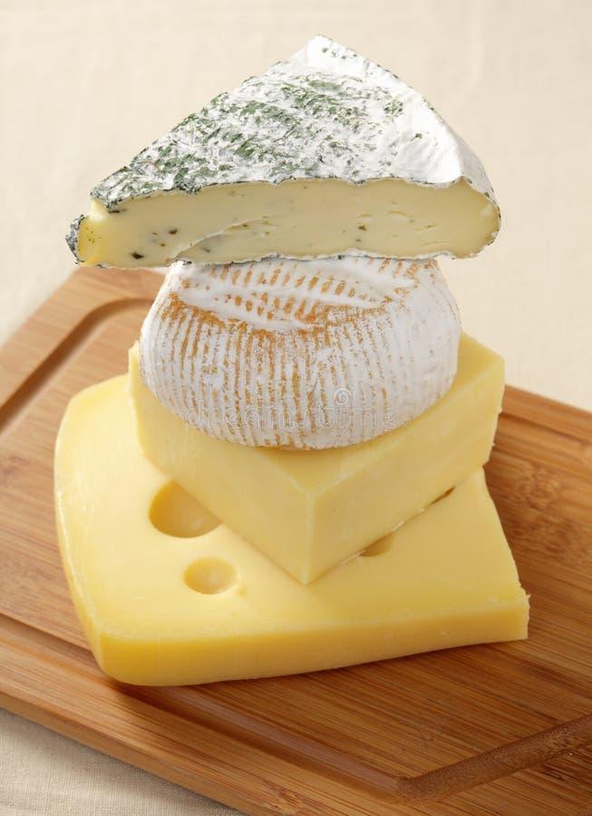 Högar av ost arkivbild