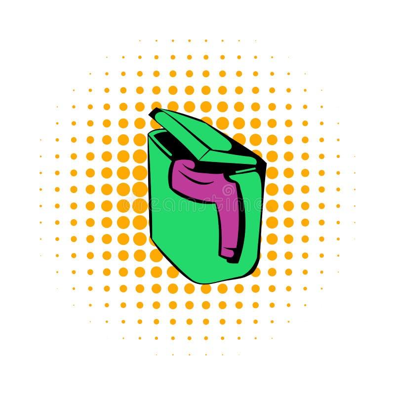 Högen av den smutsiga klädersymbolen, komiker utformar royaltyfri illustrationer