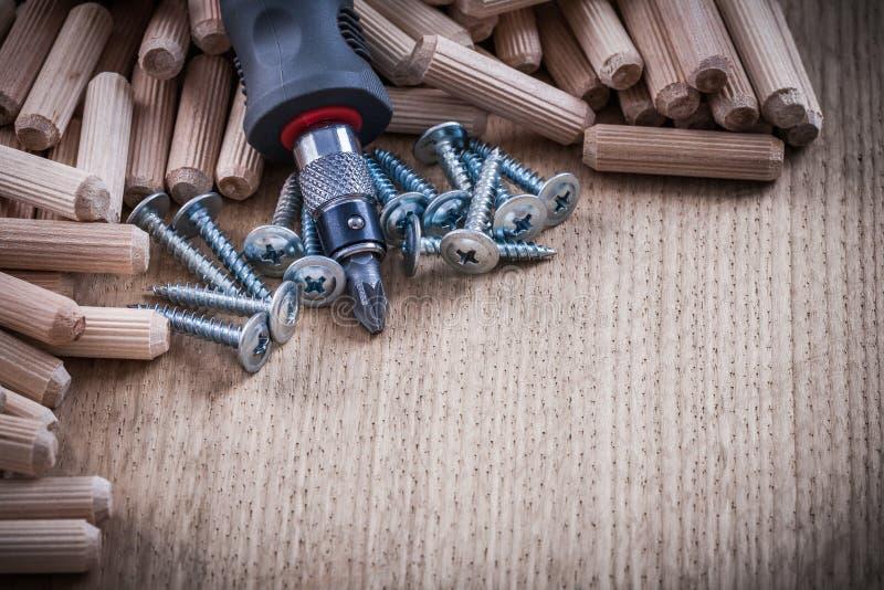 Högen av rostfri konstruktion för snickerilåspinnar spikar och insuen royaltyfri fotografi