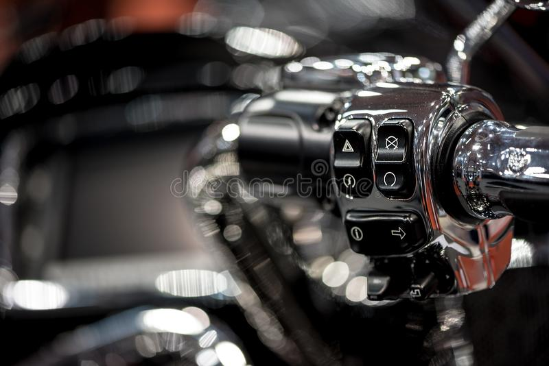 Höger handtagstång för motorcykel royaltyfri fotografi