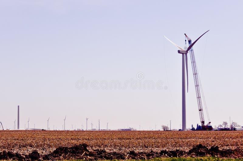 höger turbin för konstruktion arkivbild