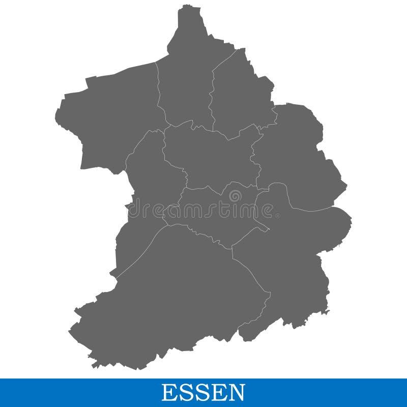 Högkvalitativ översiktsstad av Tyskland vektor illustrationer