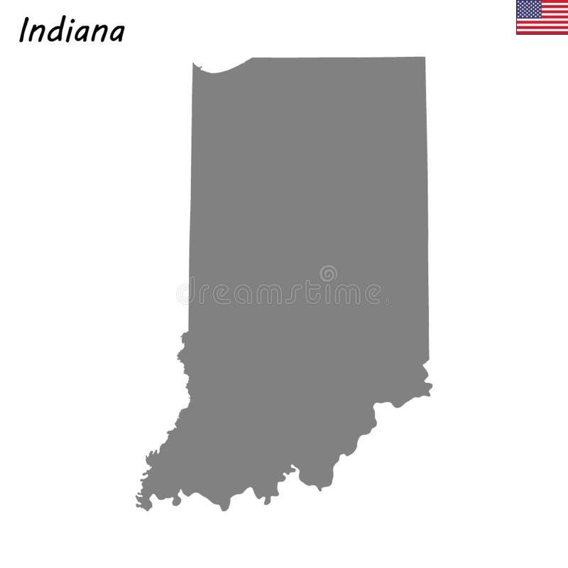Högkvalitativ översiktsstat av Förenta staterna royaltyfri illustrationer