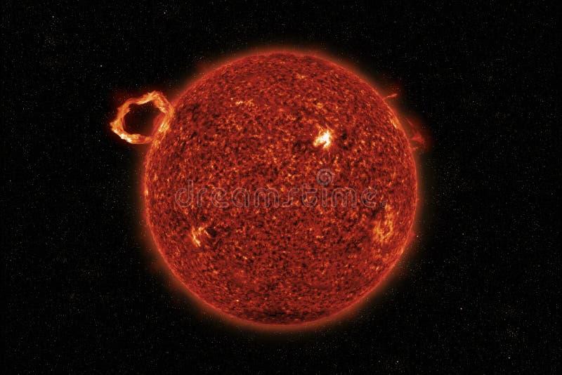 Högkvalitativ illustration 3D av solfacklor arkivbilder
